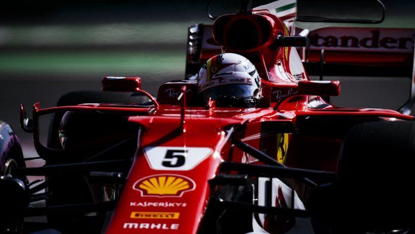 Pole position pentru Ferrari si Vettel